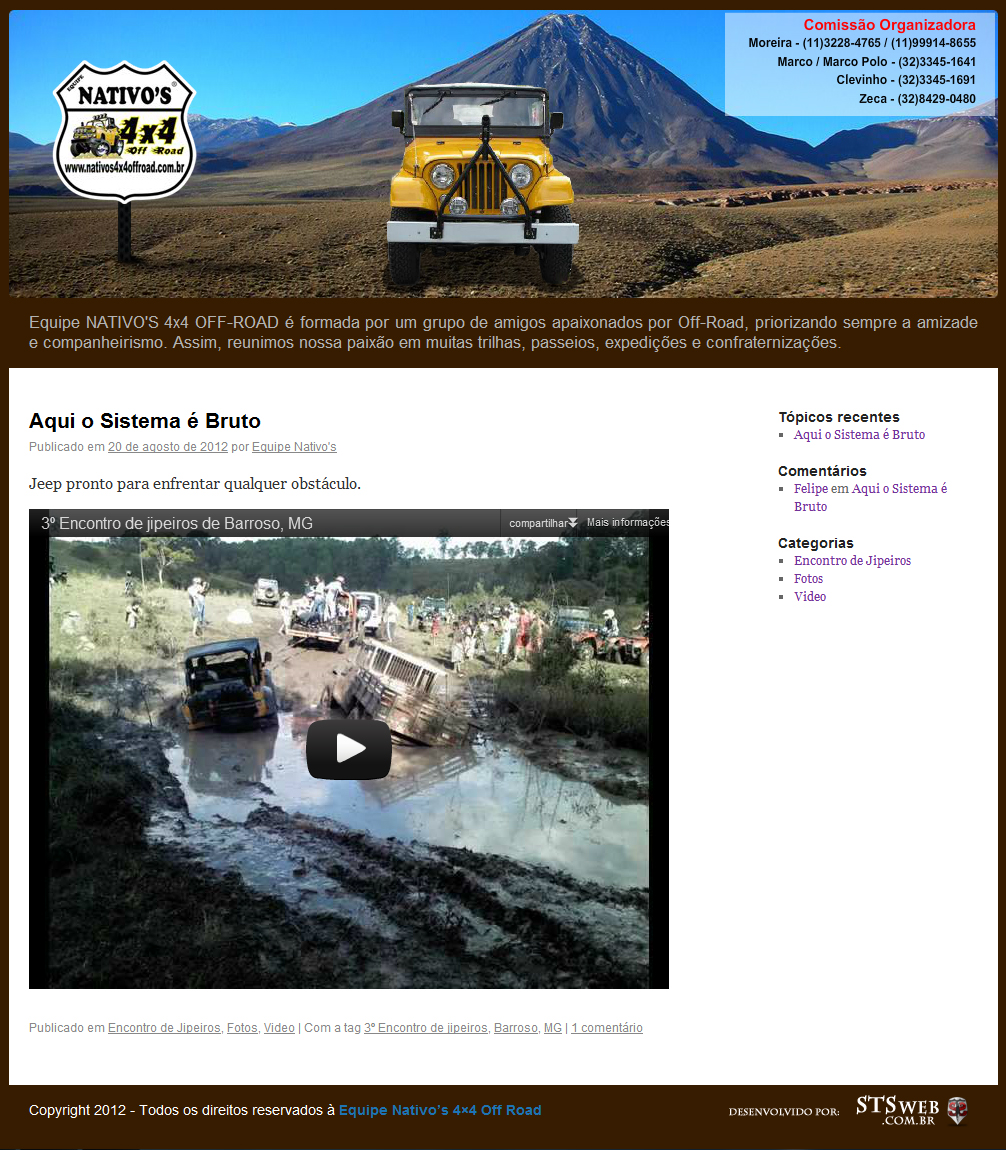 Site Nativo's 4x4 off road - STSweb