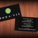 Cartao de Visita MonaVie - modelo 17 - verso 2 nomes central
