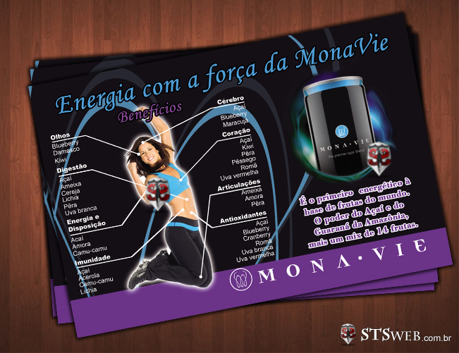 Panfletos e Forders MonaVie - Modelo 3
