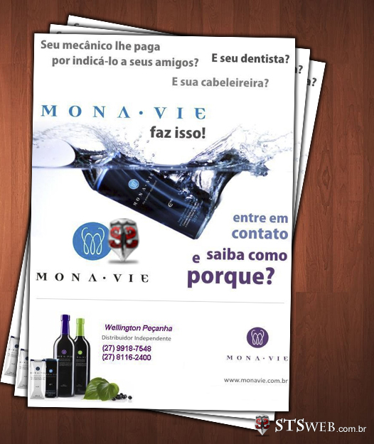 Panfletos e Forders MonaVie - Modelo 6