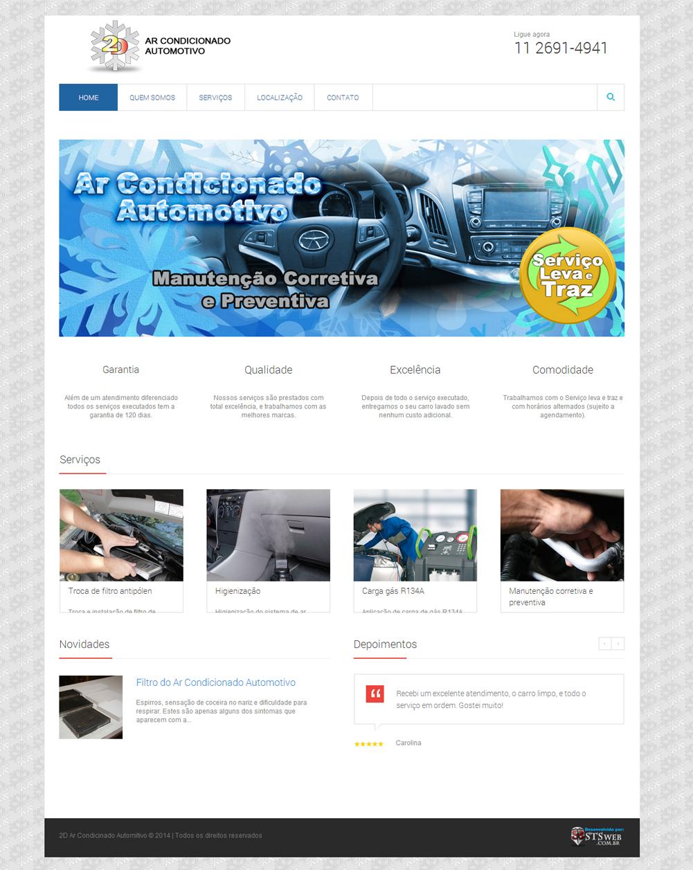 Site 2D Ar Condicinado - STSweb
